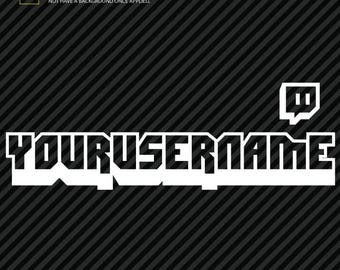 Twitch Custom Username Handle Decal (2)