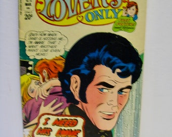 Vintage Romance Comic. All New For Lovers Only Charlton Comics 70, March 1973. drama! tears! romance! betrayal! kissing! neediness!