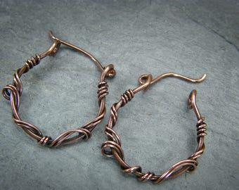 Copper hoops, earrings ~ Small hoops earrings ~ Copper earrings, gift for her ~ Small copper hoops ~ Small hoops earring sets ~ Copper hoops