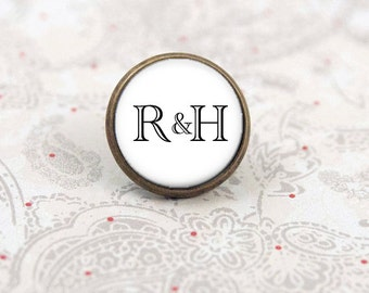 Custom Tie Tack, Lapel Pin, Boutonniere Pin, Wedding Tie Tack, Personalized Gift for the Groom