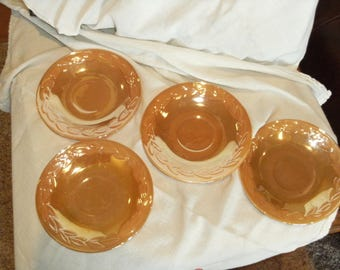 Vintage Fire King Lusterware Saucers