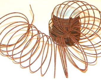 Brown Wire Tightly Covered High Quality Wire, 6 Spools of 30 Feet (180 Ft Total), Perfect for Floral, Wire Tie Grapevine Garland, Wreaths,