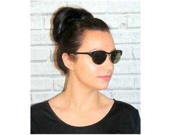 vintage 90s sunglasses, 90s clothing, deadstock sunglasses, oval, clubmaster, cheap vintage sunglasses, shiny, black sunglasses, gold