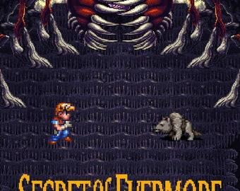 Video Game Art - Secret of Evermore - Digital Art Print - Super Nintendo Tribute
