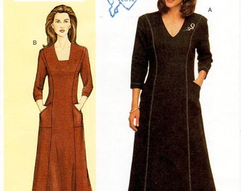 Sz 32/34/36 Bust - Vogue Dress Pattern 7472 by SANDRA BETZINA - Misses' Flared Princess Seam Dress with Neckline Variations - Today's Fit