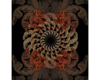 Fine Art Print - Mandala from nature - Momento Ad vigere 4