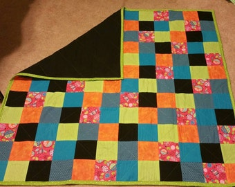 Lady bugs- toddler- lap quilt- birthday gift- girl