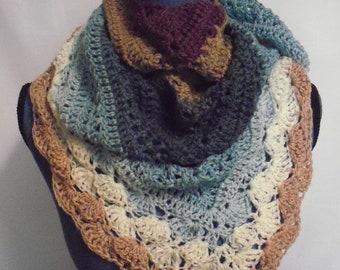 crochet women's shawl/scarf   CS1313