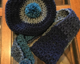 Chunky Slouch hat & scarf set