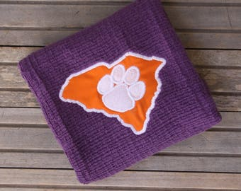 Embroidered Clemson Towel, Kitchen Towel, Tigers decor, Kitchen Decor, South Carolina