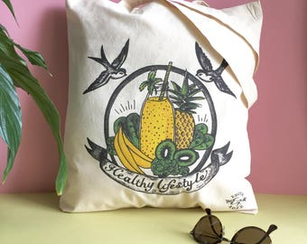 Organic cotton bag Tote / organic cotton bag / Healthy lifestyle