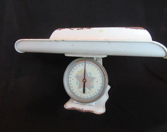 30 Pound Baby Scale, Vintage Columbia Baby Scale, Columbia Family Scale Nursery Decor, Baby Shower Decoration