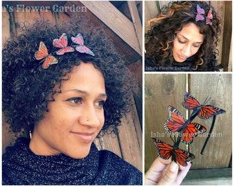 Monarch butterfly headband, monarch headband, monarch butterfly crown
