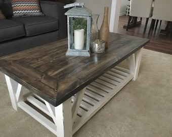 Rustic Distressed Coffee Table, Rustic Wooden Coffee Table, Distressed Table,  Rustic Distressed Coffee