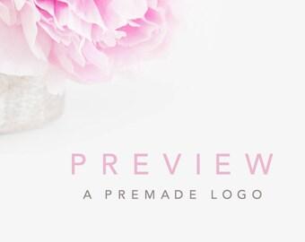 Preview a Premade Logo