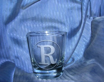 Etched rock glass, engraved rock glass, etched lowball glass, custom etched rock glass, personalized etched rock glass