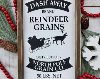 Reindeer sign/ christmas sign/ holiday sign/ holiday decor/ christmas decor/ farmhouse style/ rustic/ gifts