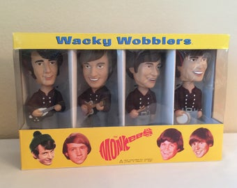 Monkees Wacky Wobblers Bobble Head Set of 4 Figures