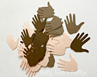 Hand Die Cuts, Hand Confetti, Hand Shapes, Paper Hands, Hand Cut Out, 25 Ct.