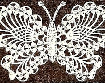 Butterfly Applique Crochet Pattern Vintage - 723028