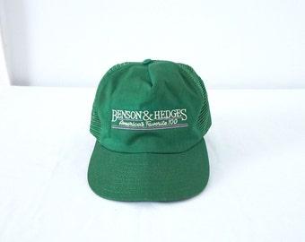 Vintage Benson and Hedges Green Trucker Ball Cap