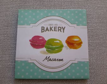 magnet depicting macarons kitchen decor