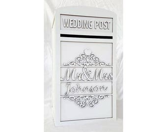 Mr & Mrs Personalised Wedding Card Post Box