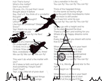 "Disney's Peter Pan ""you can fly!"" lyric print"