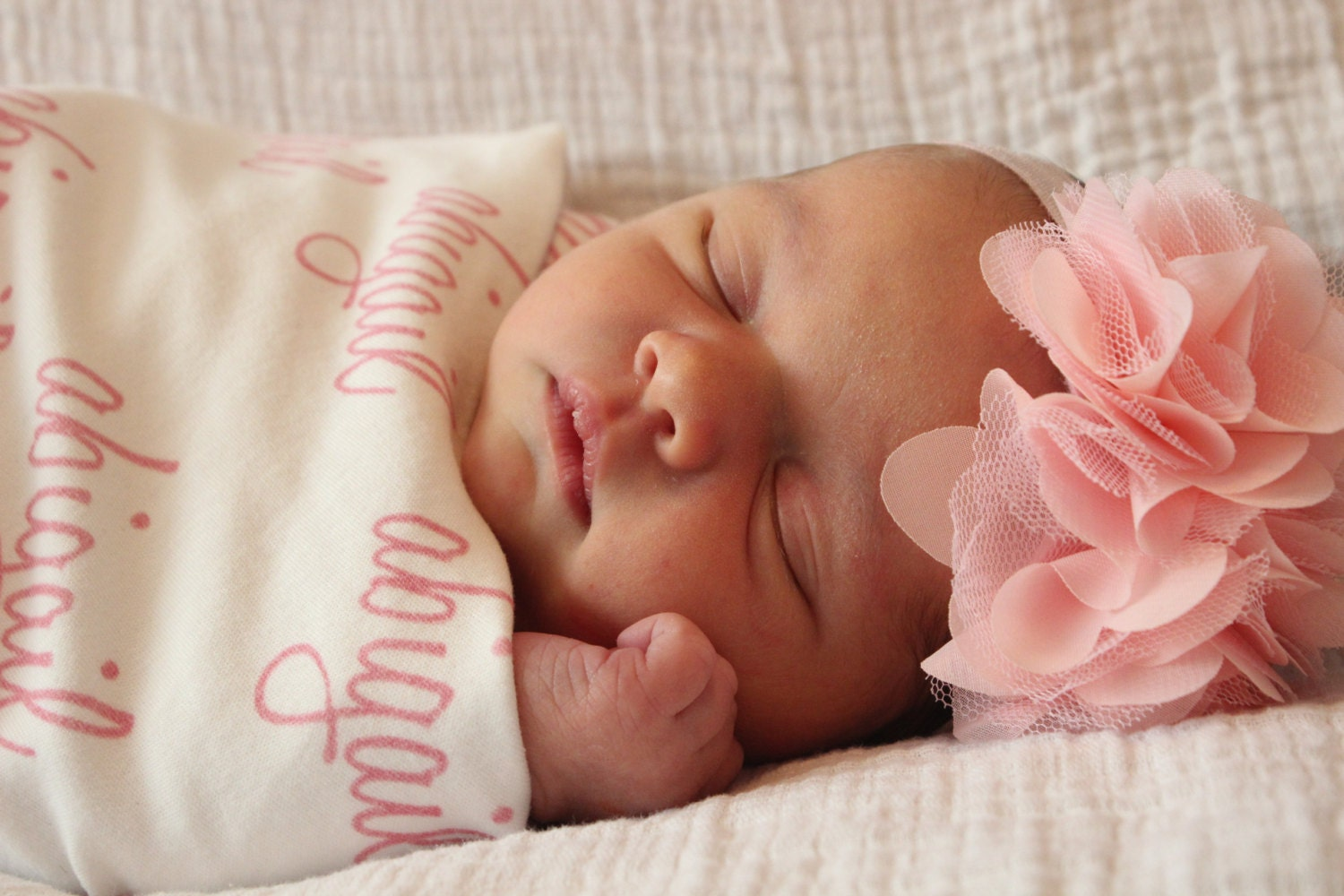 Personalized swaddle blanket 100 organic cotton baby zoom negle Gallery