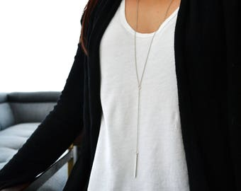 Y lariat Necklace- Everyday Jewelry - Gift for her
