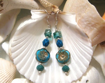 The Musician's Garden - glass flowers - sterling silver - glass - vivid