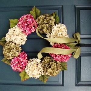 Spring Wreaths | Hydrangea Wreath | Front Door Wreaths | SPRING Wreaths for Front Door | Housewarming Gift | Door Decor