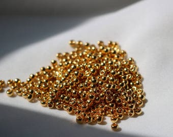 8/0 24k Gold Plated Miyuki seed bead, 5 gram bag, Color# 8-191