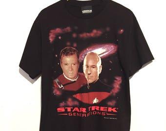 1994 Star Trek Generations Tee Shirt medium te03483