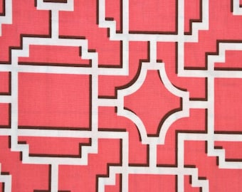 Michael Miller Mod Lattice Coral - 1 yard cotton quilt fabric