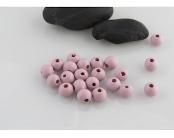 LC lilac light 8 X 20 mm wooden beads lot