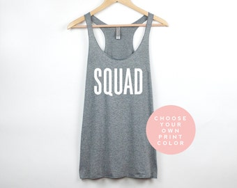 Squad Tank Top, Bridesmaid Shirts, Bridal Shower Gift, Bachelorette Party Shirts, Gift from Bride, Bridal Party Gifts Squad Shirts
