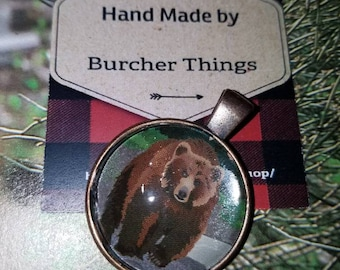Grizzly Bear Pendant Necklace