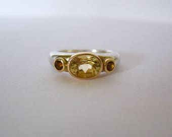 Citrin Trio Ring