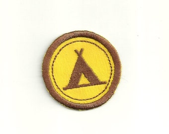 "2"" Camping Merit Badge, Patch! Custom Made!"