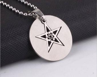 Floating Pentagram Pendant Necklace