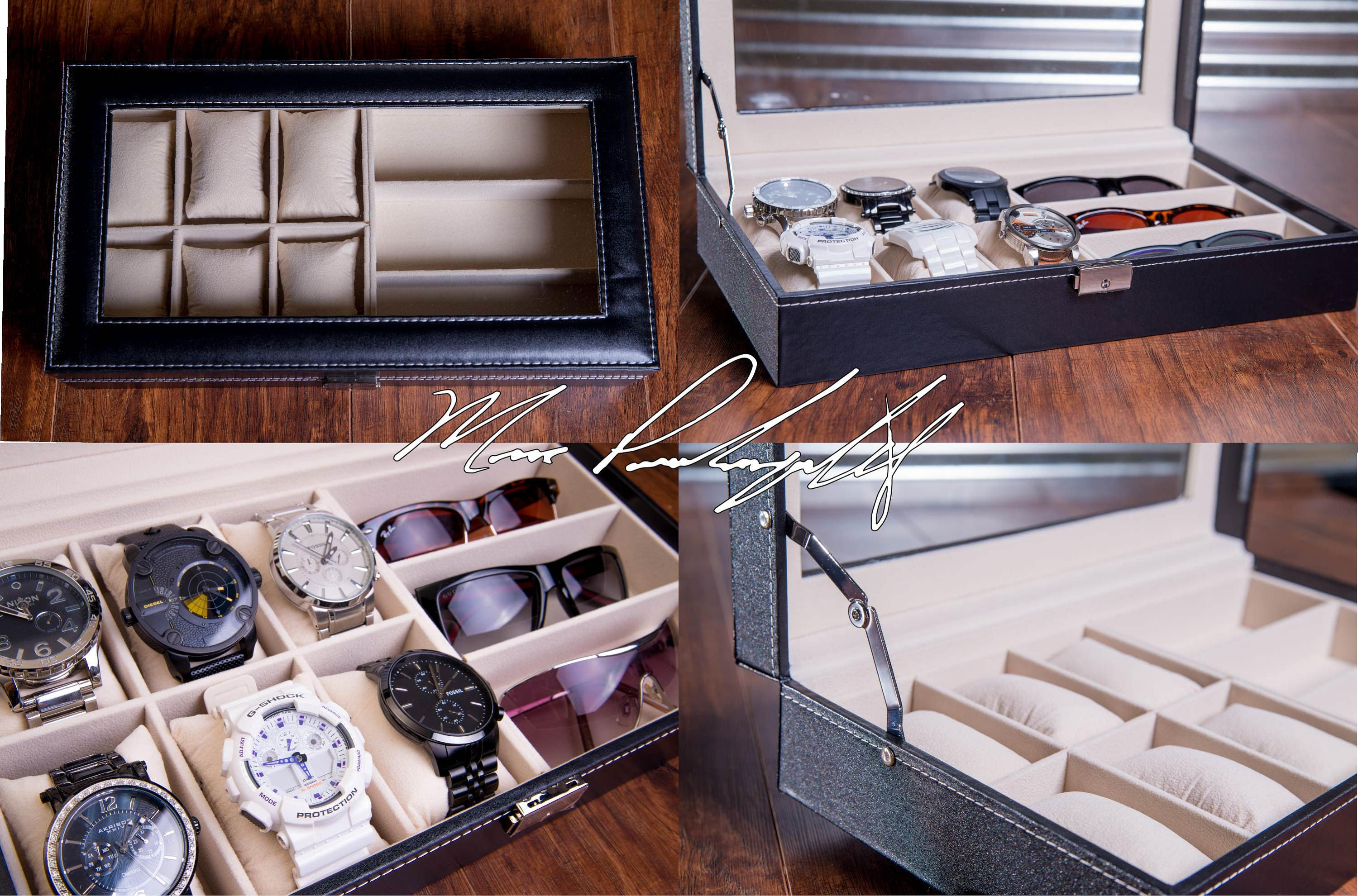 Personazlied Watch Box Mens Watch Case Custom Engraved Watch