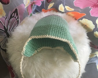 100% cotton, baby beanie with earflaps, New Born