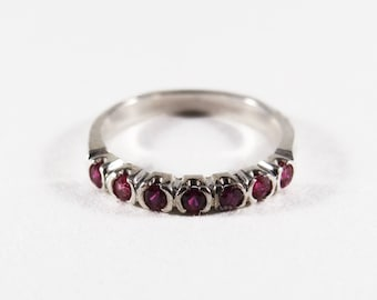 Sterling Silver Ruby Stack Band