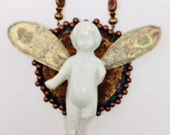 Guardian Angel Frozen Charlotte Necklace