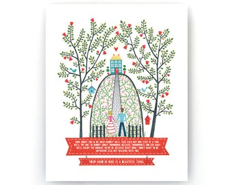 Hand in Hand Art Print - White - 11x14 - AP007