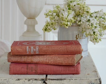 Vintage French Books x3
