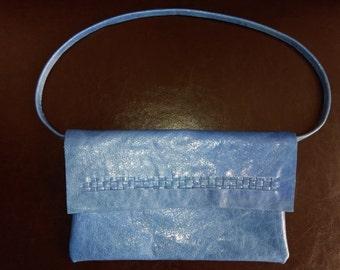 SALE! leather clutch italian bag handmade quality purse unique clutch silk mini bag zipped pochette Italian leather clutch girl