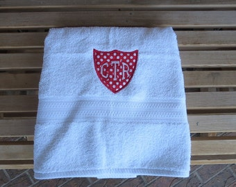 CTR White Towel - Red Applique