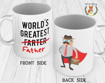 Greatest Farter mug   Fathers Day Gift   Best Gift for Dad   Mug for Dad   Daughter to Father Gift   Son to Father Gift   CM-043